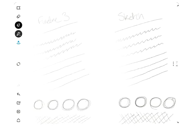 Presion sensibilidad bamboo sketch