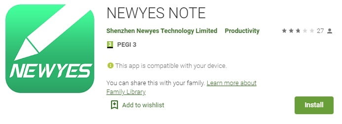 Newyes note
