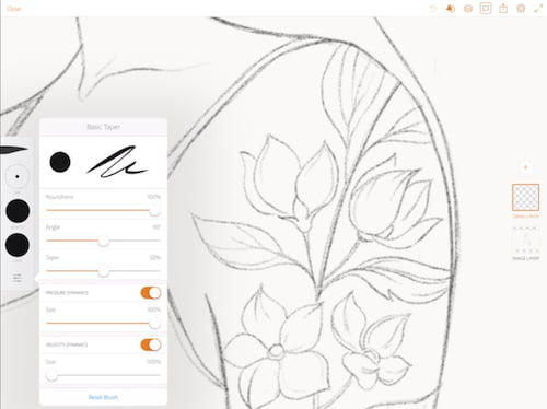 Pinceles adobe draw